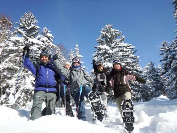 Forest Snowshoe Trekking at Donkoro Outdoor School