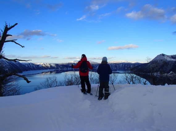 Snowshoeing Under the Lake Mashu Stars