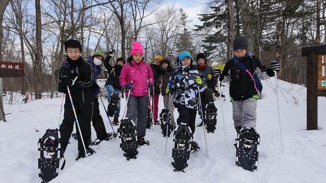 Trek to a Frozen Waterfall in Snowshoes