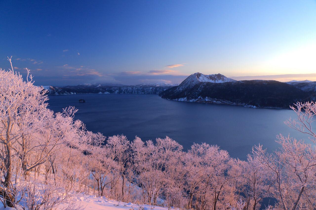 Lake Mashu's Shimmering Ice Blossoms