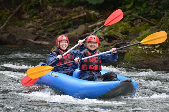 Raft Thought the Delightful Scenes of the Daisetsu Mountain Area