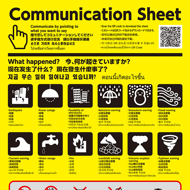 Communication Sheet