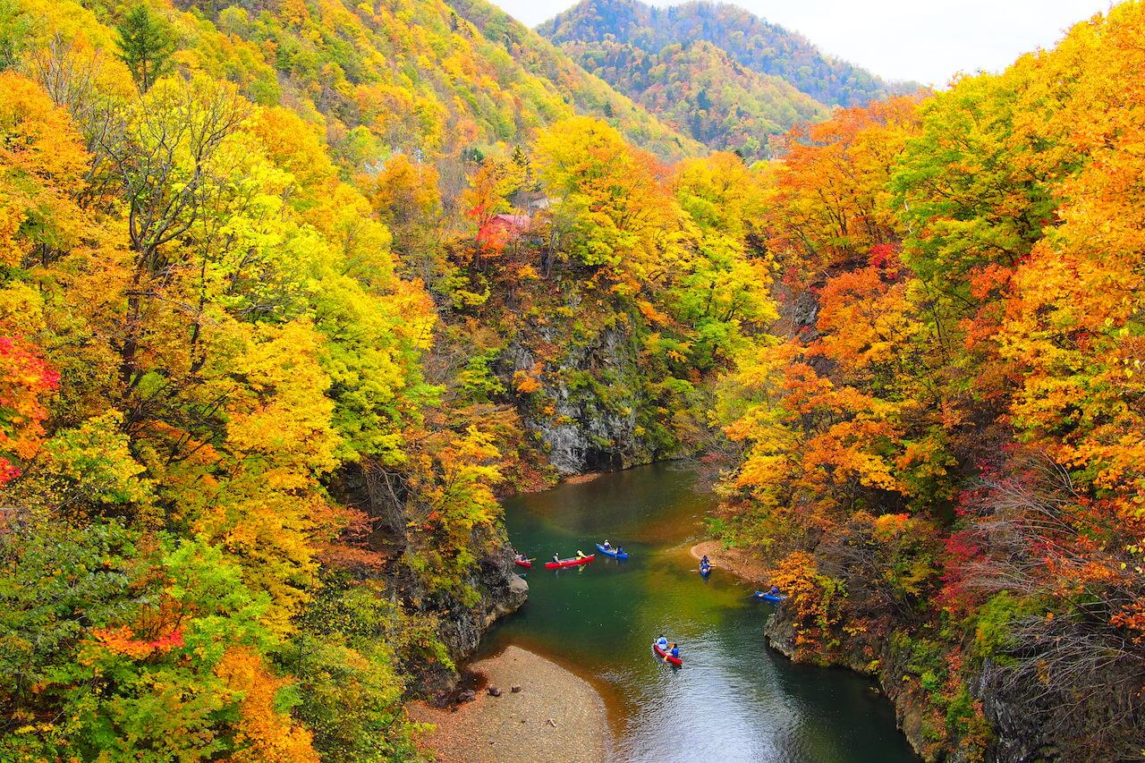 Experience the Majesty of Fall in the Jozankei Onsen Area