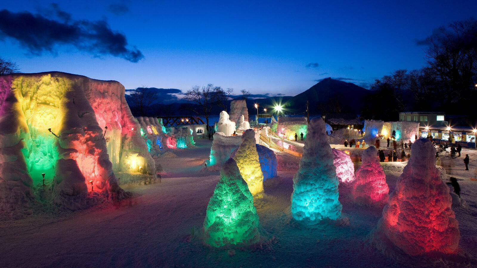 Explore the Magical Shikotsu Ice Festival