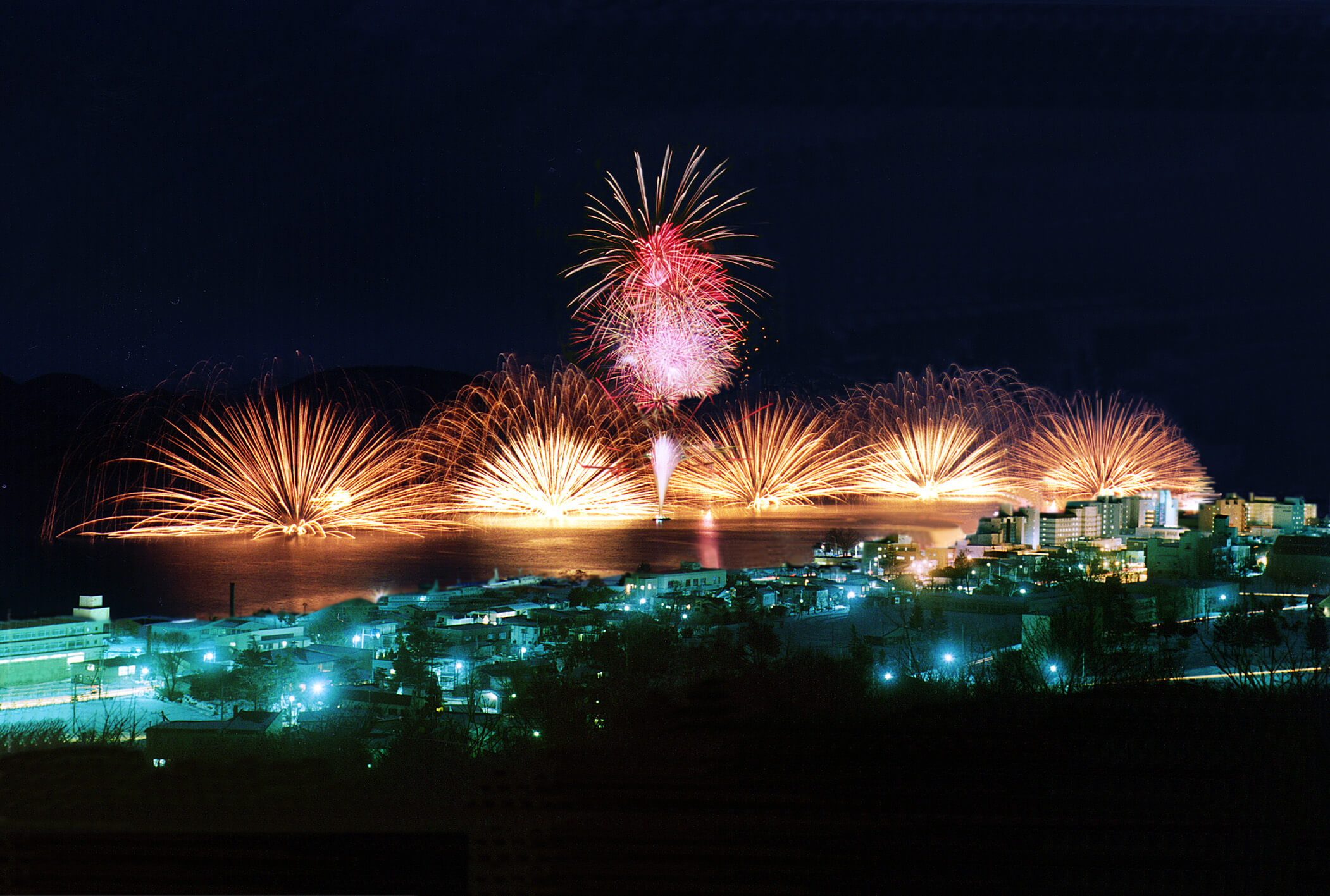 Take a Romantic Boatride Underneath the Fireworks on Lake Toya