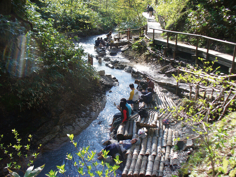 Rest Those Weary Feet in the Oyunuma River Natural Footbath