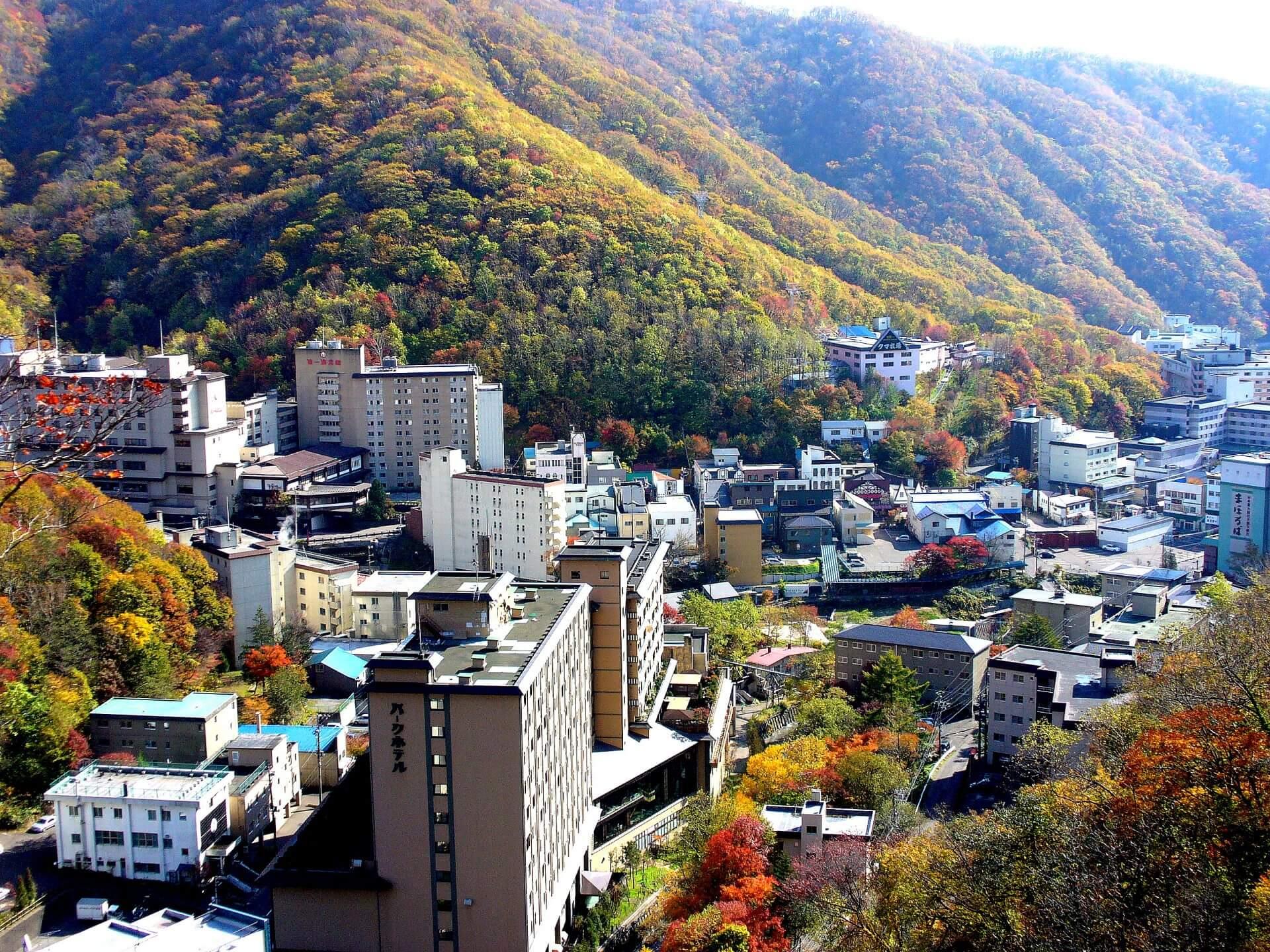 Take a Steamy Dip at Noboribetsu Onsen