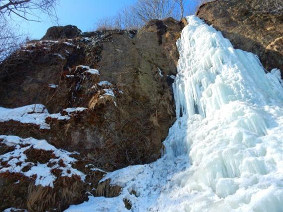 Come See a Waterfall Frozen in Time on this Snowy Adventure