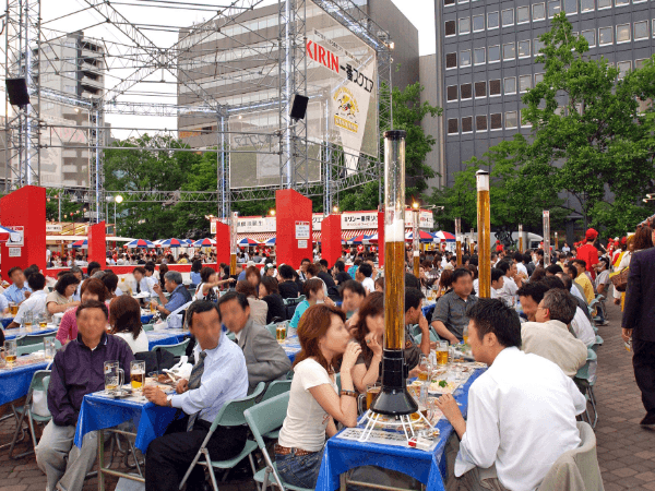 Sapporo Beer Garden: Mid-July to Mid-August