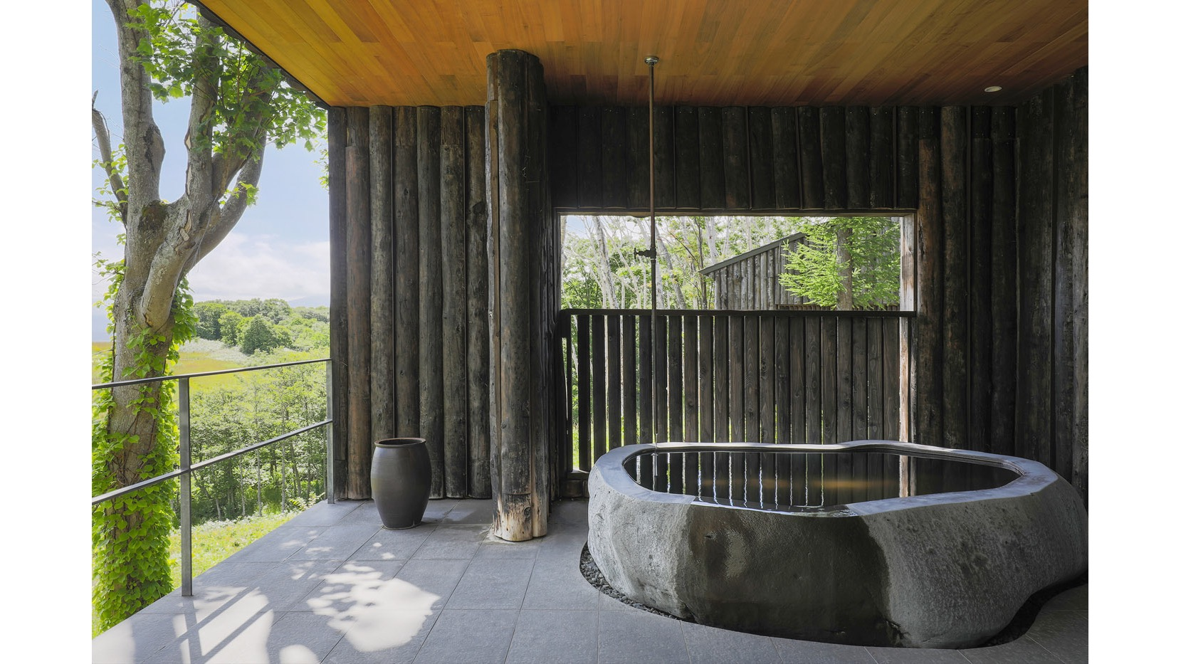 Every room features a private outdoor bath.